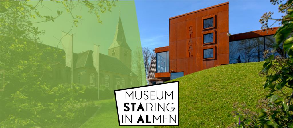 Museum STAAL vanuit de theetuin in Almen