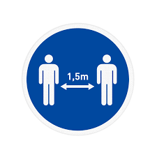 Vloersticker - Houd 1,5 meter afstand   Veiligheidsbord.nl